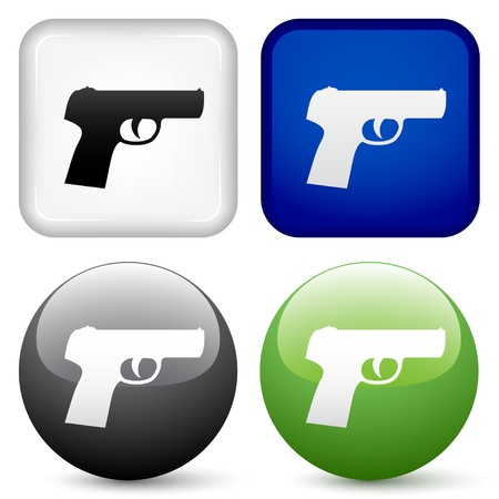 vector gun buttons Vector