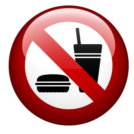 prohibido: vector no hay comida marca