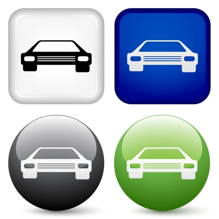 boutons de voitures vecteur