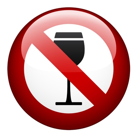 banned: vector no alcohol mark Illustration