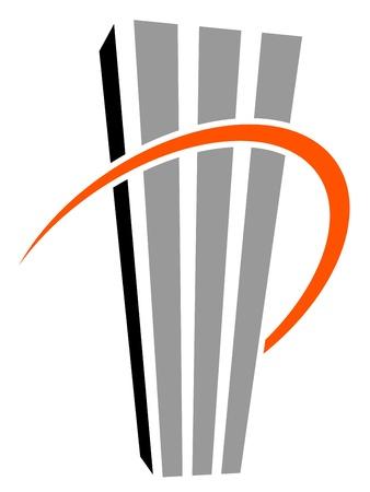exterior shape: vector skyscraper symbol