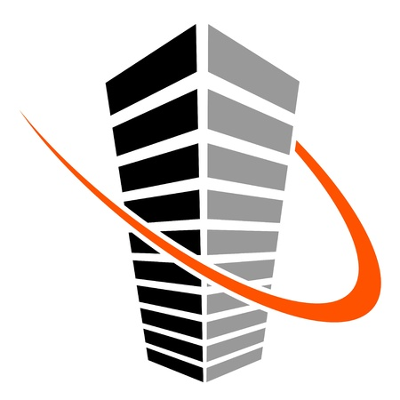 corporate building: vector skyscraper symbol