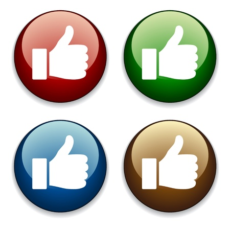vector thumbs up buttons Stock Vector - 11520043