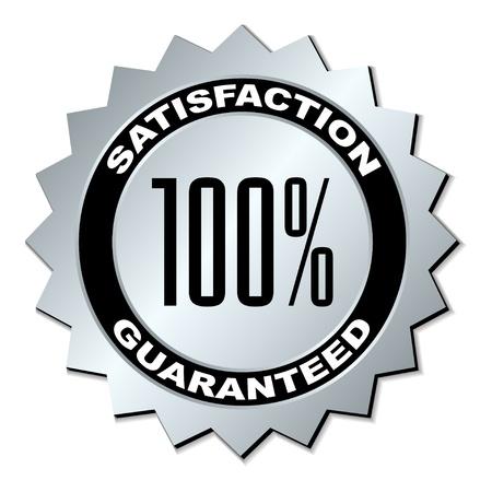 silver service: vector satisfaction guaranteed label