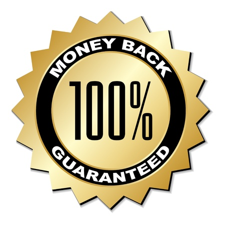 vector money back guaranteed label Illustration