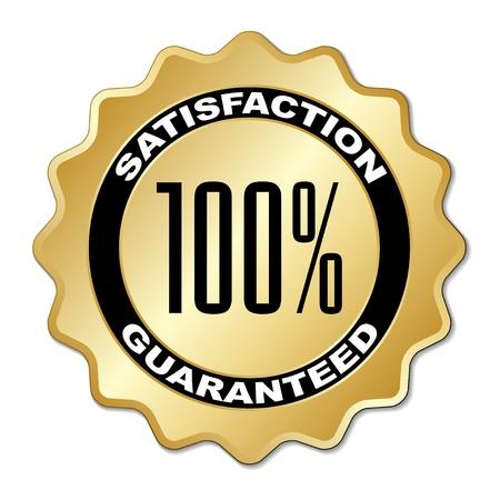customer satisfaction: vector satisfaction guaranteed label