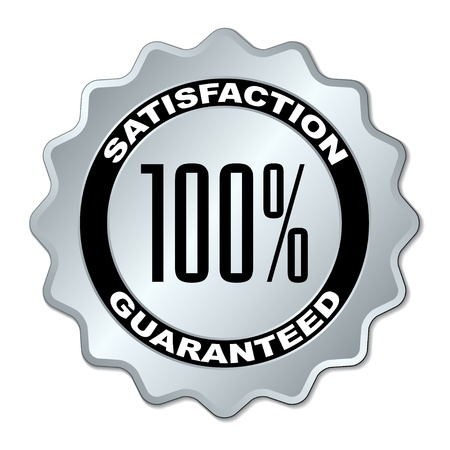 vector satisfaction guaranteed label Vector