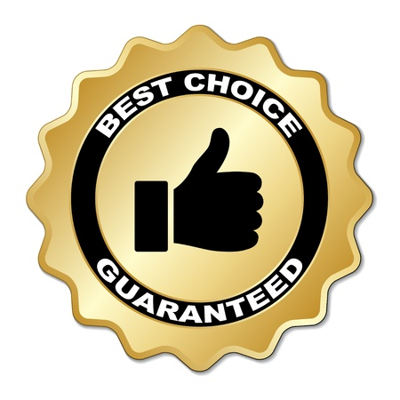 best: vector best choice guaranteed label