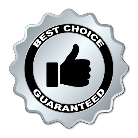 best products: vector best choice guaranteed label