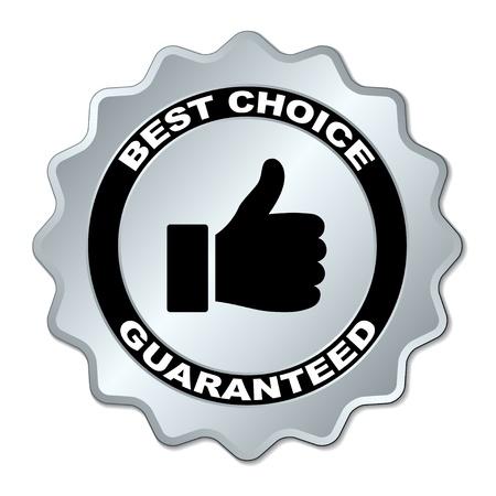 vector beste keuze gegarandeerde label