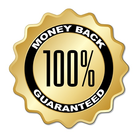 vector money back guaranteed label Stock Vector - 11520415