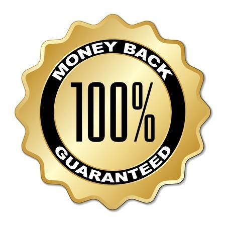 vector money back guaranteed label Stock Vector - 11520415