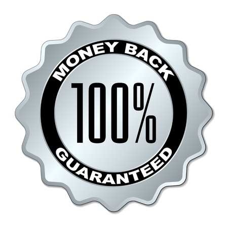 medallion: vector money back guaranteed label Illustration