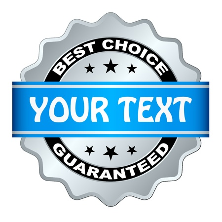 high detail: vector best choice guaranteed label