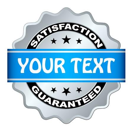 vector satisfaction guaranteed label Vector