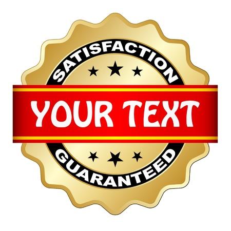 high detail: vector satisfaction guaranteed label