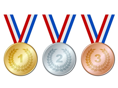 vector de medallas Ilustración de vector