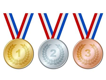 vector medailles Vector Illustratie