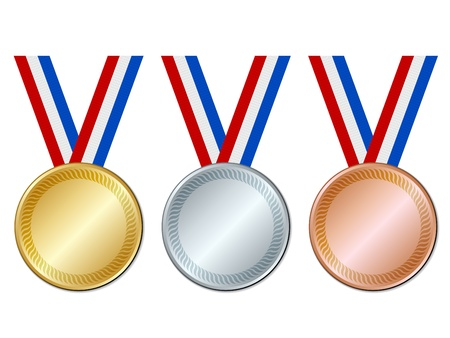 silver medal: vector medals