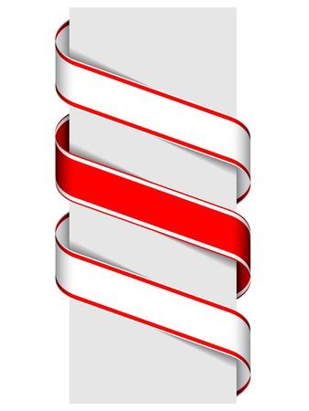 page turn: vector ribbon sign Illustration