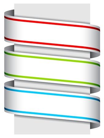 vector ribbon signs