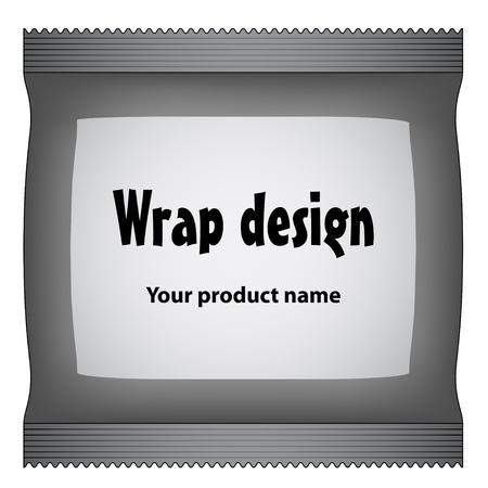 cellophane: vector foil package Illustration