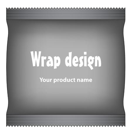 red bag: vector foil package Illustration