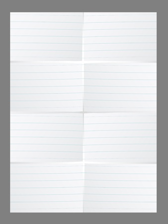 vector white lined paper Vector