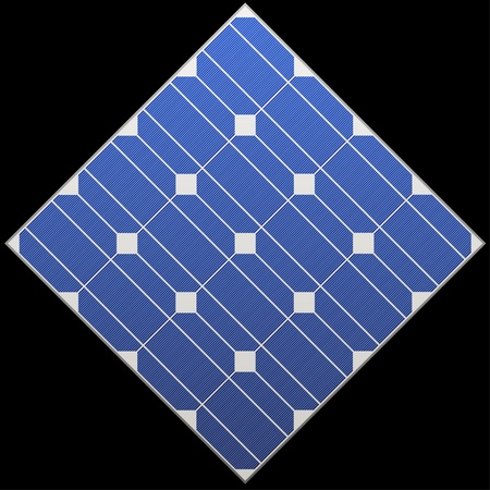 photocell: vector photovoltaic panel