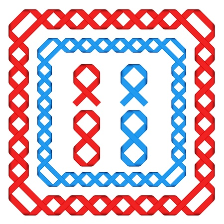 vector ribbon frames Vector