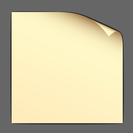 turn yellow: vector yellow bended paper
