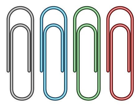 stationary set: vector paperclips
