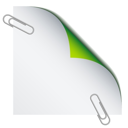 vector paper with paperclips Stock Vector - 11519929