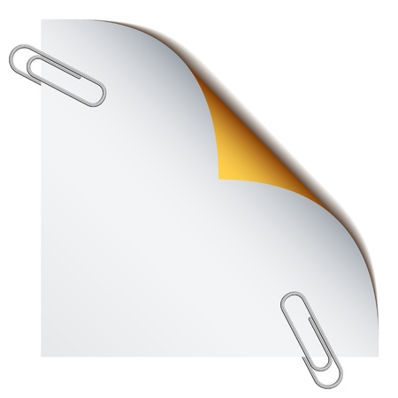paperclip: vector paper with paperclips