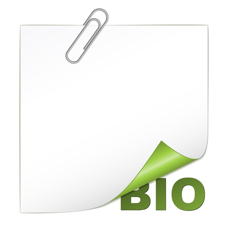 vector bio corner with paperclip Vector