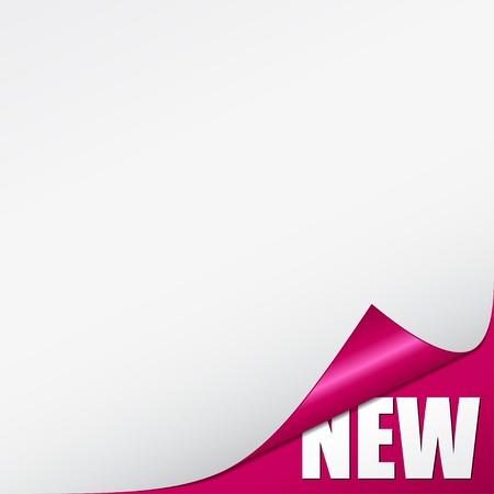 Vektor-rosa neue Ecke