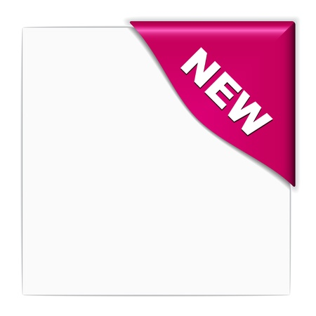 new product: vector pink new corner Illustration