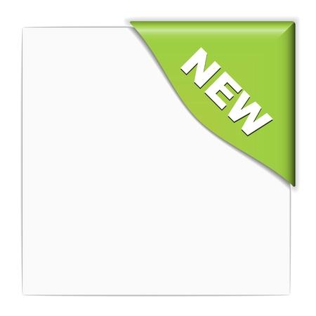 vector groene nieuwe hoek