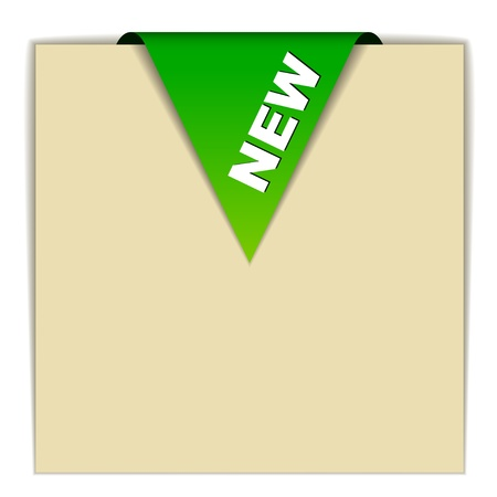 vector green new sign Stock Vector - 11520196