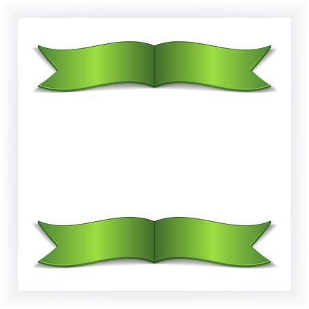 green bow: Vector festive card with ribbons