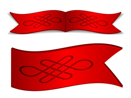 eternally: vector ribbons with endless celtic knot