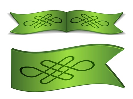 vector ribbons with endless celtic knot Vector