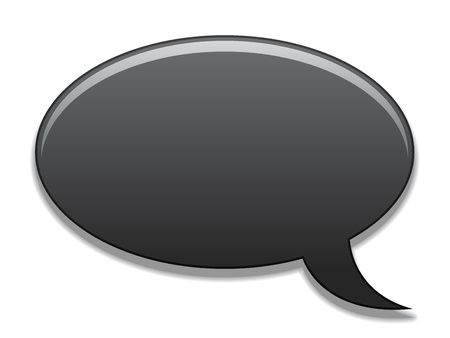 chat box: vector speech bubble Illustration