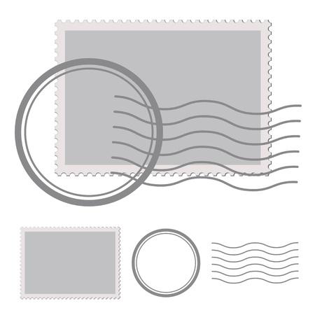 timbre voyage: cachet de la poste vecteur blanc