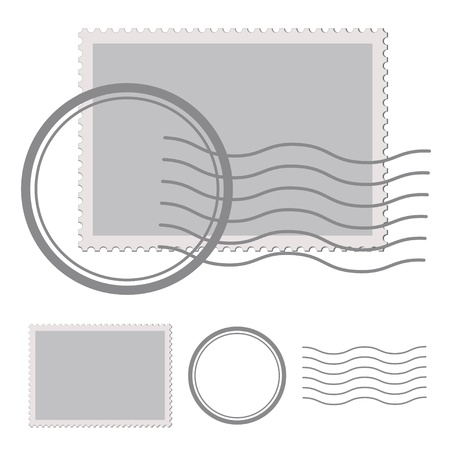 post: vector blank post stamp