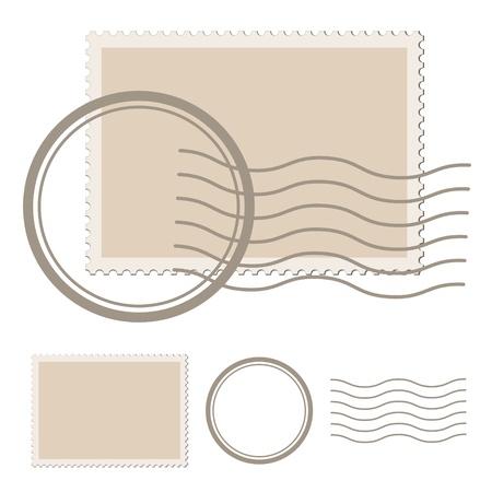 poststempel: Vektor leer Poststempel Illustration