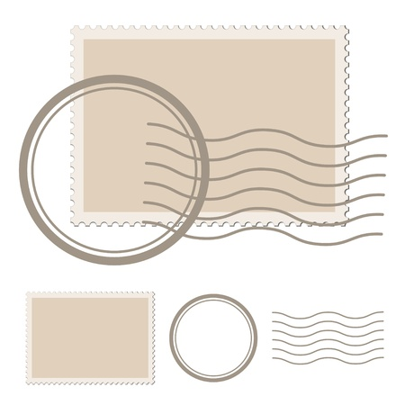 postmark: Vektor leer Poststempel Illustration