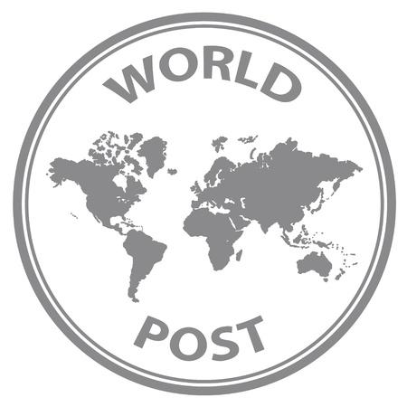land mark: vector mundo abstracto posterior sello de goma
