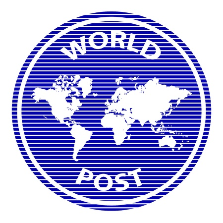 vector abstract world post rubber stamp Vector