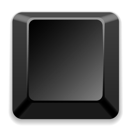 computer key: vector blank black key